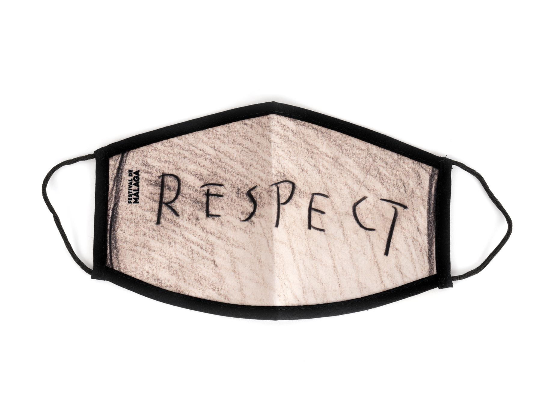 "Reusable hygienic face mask for adults ""Respect"""